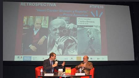 El biógrafo de Cartier-Bresson, Pierre Assouline, en el Institut français de Madrid