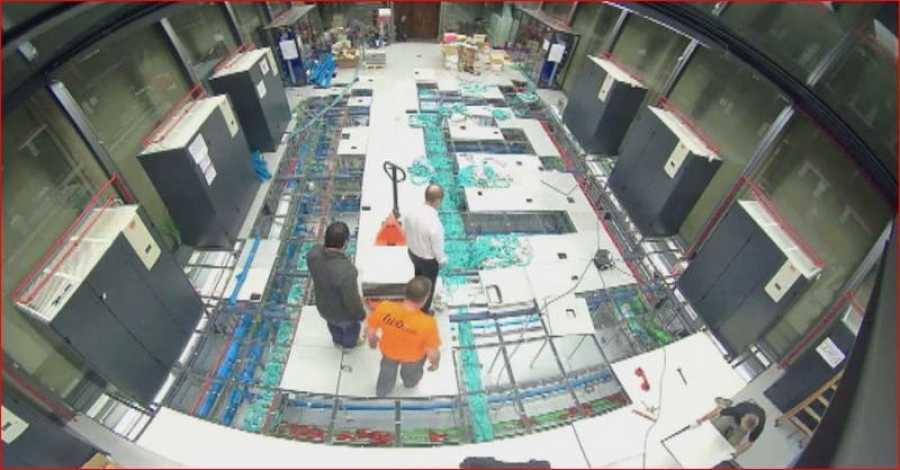 Proceso de montaje del MareNostrum 4