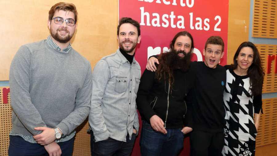 Paloma Arranz, con Arkano, Impromadrid y Adrián Gómez