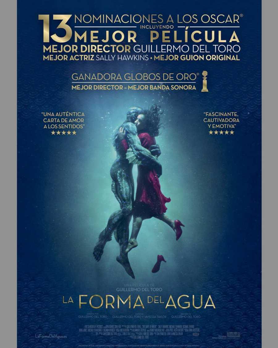 Cartel español de 'La forma del agua'