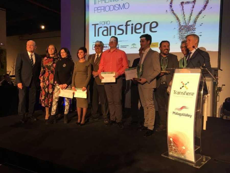La entrega del III Premio de periodismo del Foro Transfiere