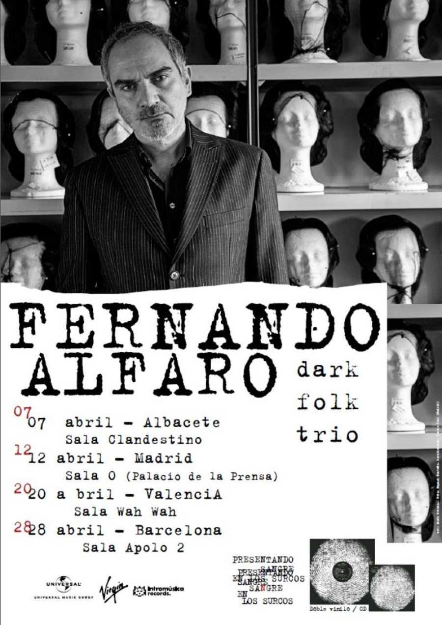 Cartel de la gira de Fernando Alfaro