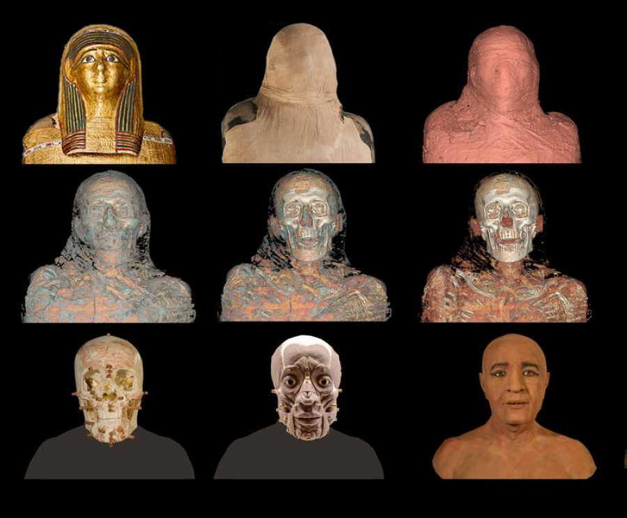 Reconstrucción de la cara de Nespamedu
