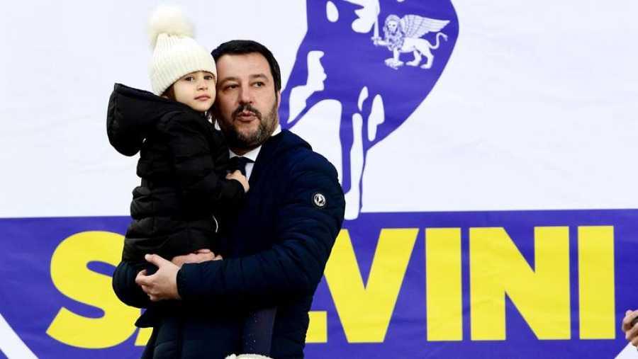 El candidato de la Liga Norte, Matteo Salvini