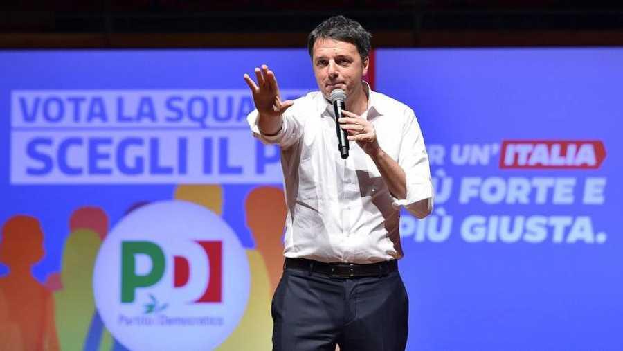 El candidato del Partido Democrático, Matteo Renzi