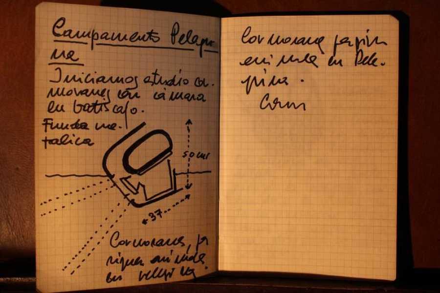 Apuntes de rodaje anotados por Félix en sus cuadernos de campo originales.