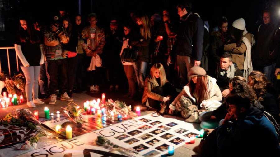 Imagen de archivo de una de las vigilias por las víctimas del Madrid Arena