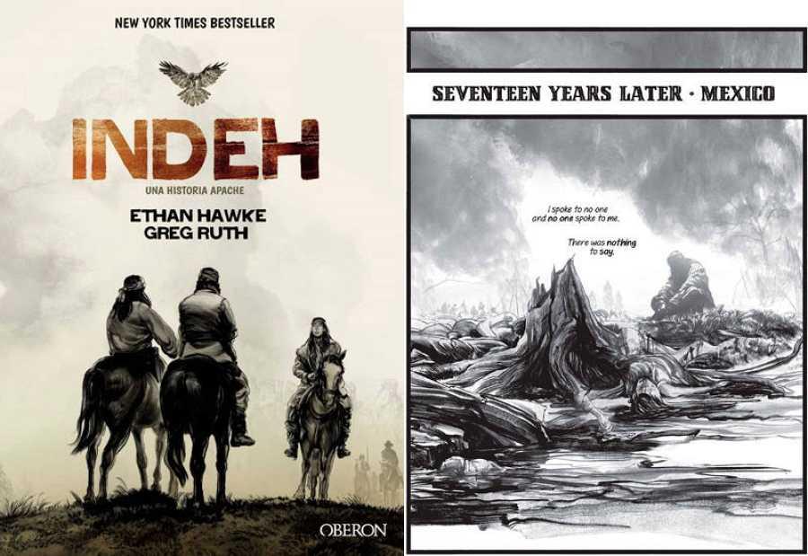 Portada y página de 'Indeh'
