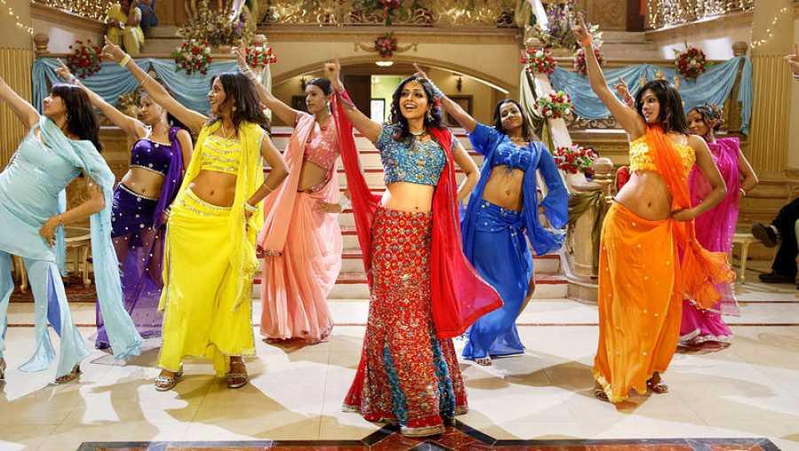 Llamativa coreografía de Bollywood