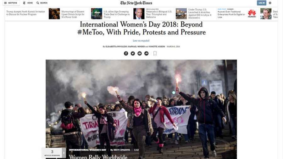 Portada The New York Times