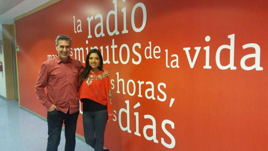 Salomé Masala, con Arturo Martín