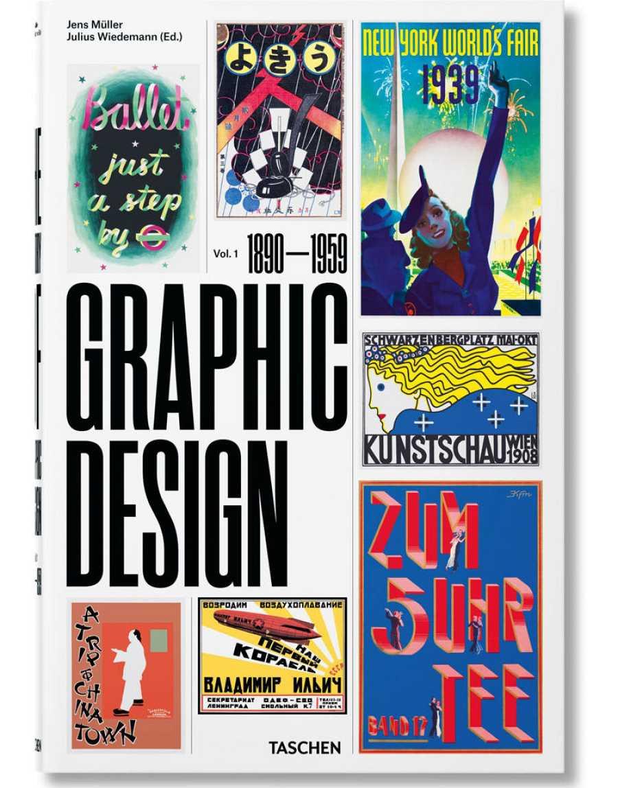 Portada del libro 'The history of Graphic Desing. Vol. 1 (1890-1959)'