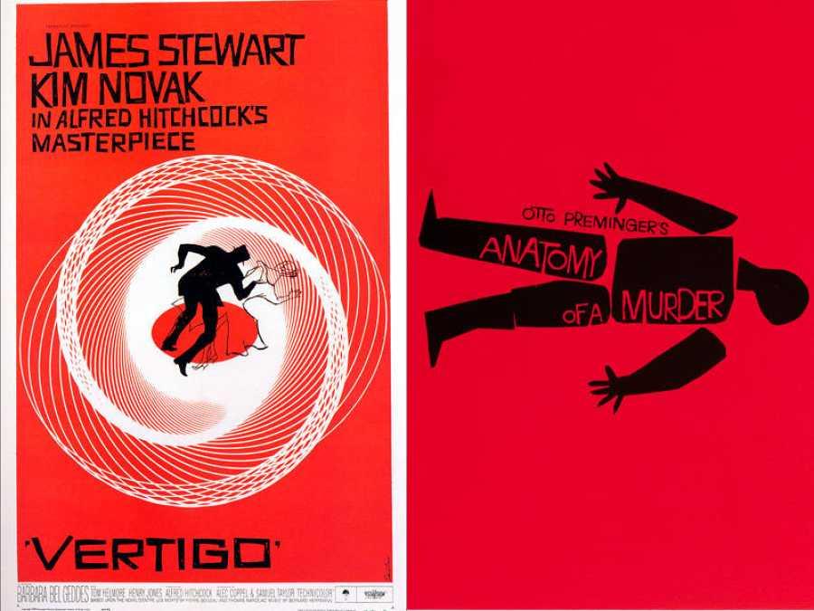 Carteles de Saul Bass para 'Vértigo' y 'Anatomia de un asesinato'