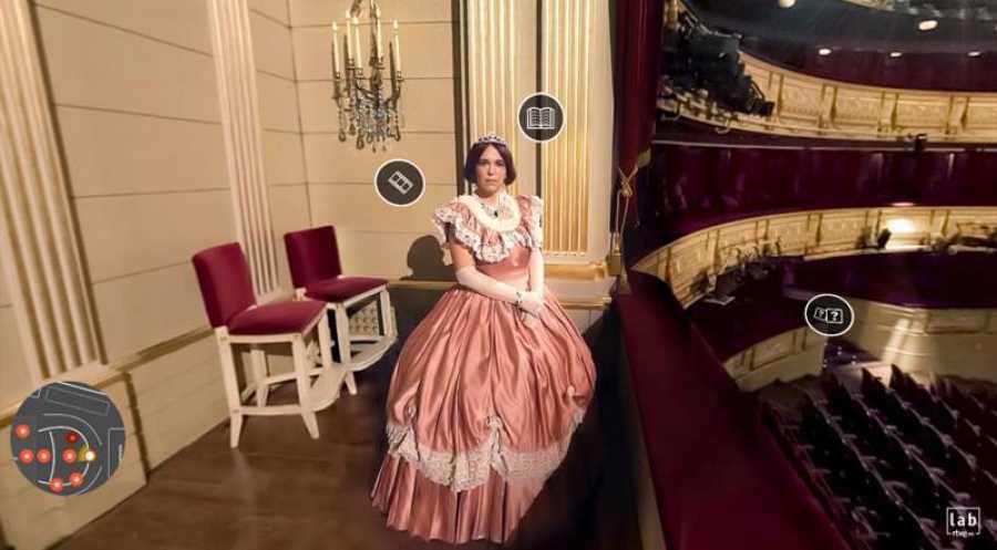 Isabel II inauguró el teatro real en 1850