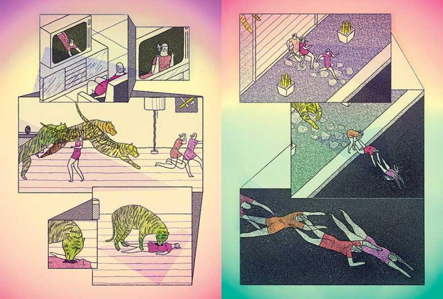 Páginas de 'Pulse enter para continuar', de Ana Galvañ