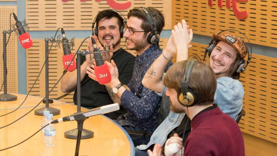 Un momento del programa, en la Casa de la Radio