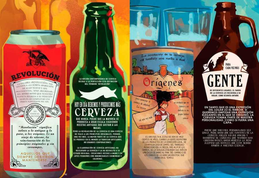 Páginas de 'La historia en cómic de la cerveza'