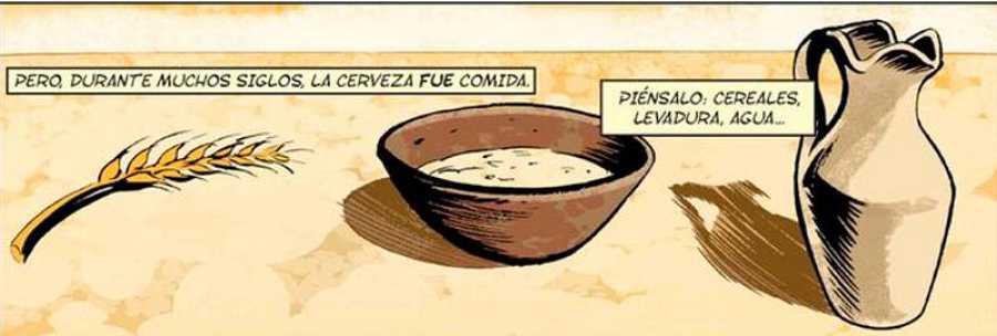 Viñeta de 'La historia en cómic de la cerveza'