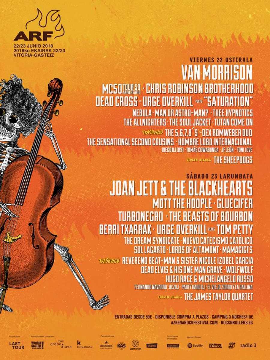 Cartel completo del Azkena Rock Festival 2018