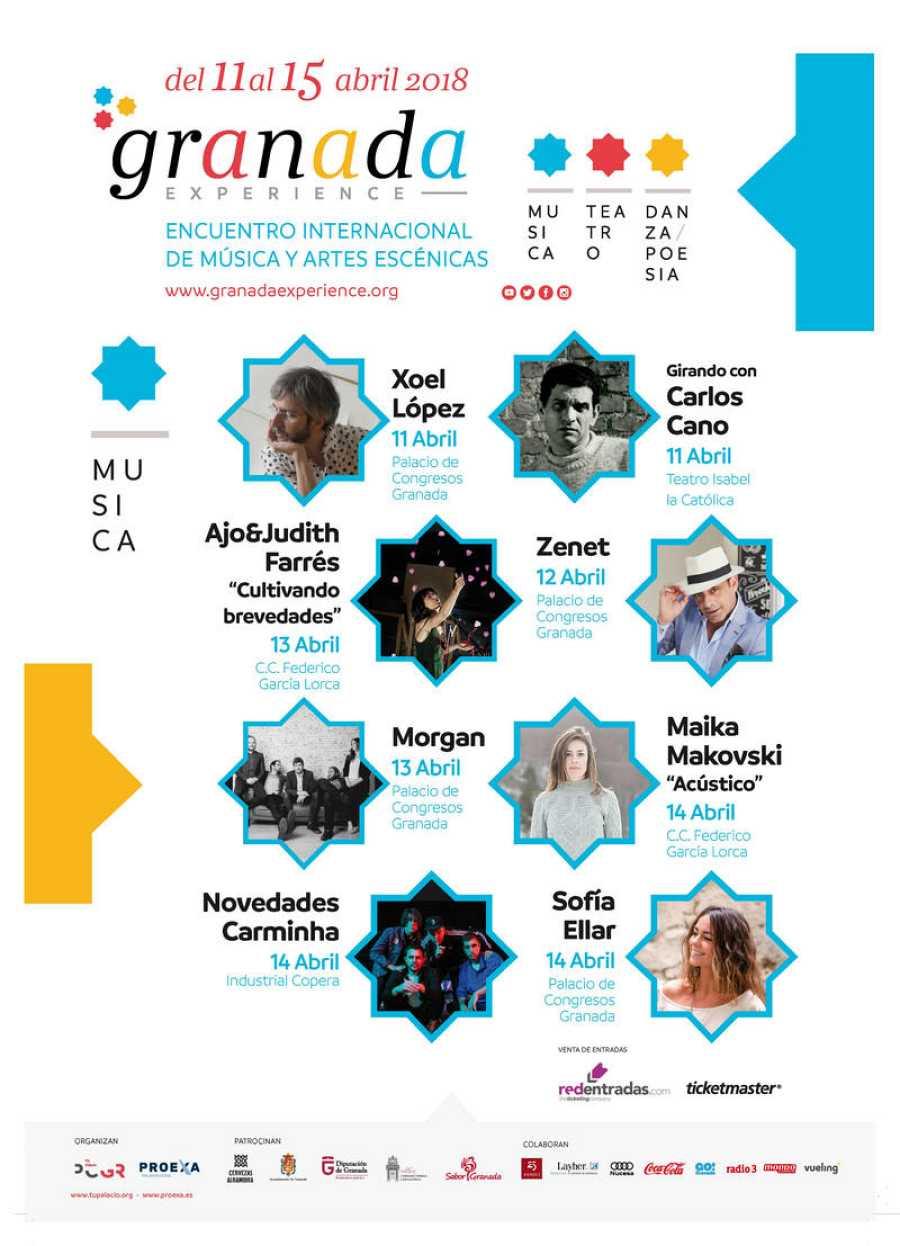 Agenda de conciertos del Granada Experience 2018