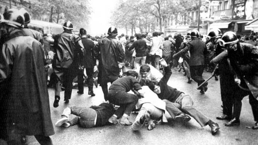 Calles de París en mayo de 1968