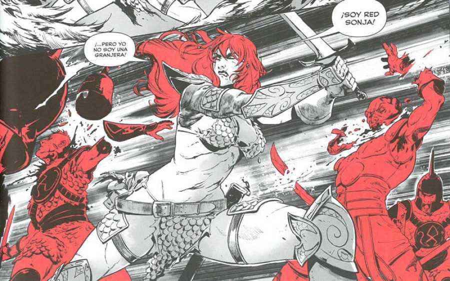 Viñeta de Santi Casas de 'Red Sonja. La balada de la diosa roja'
