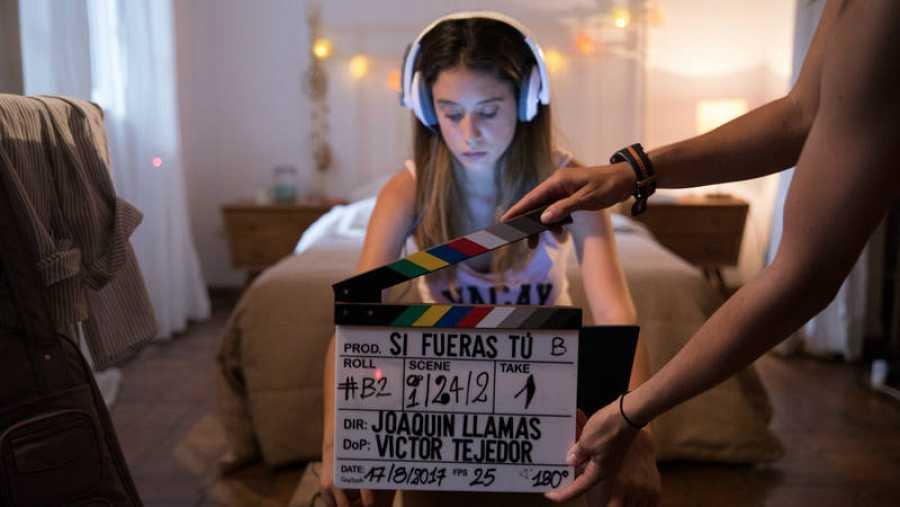 Imagen realizada durante el grabación de la webserie
