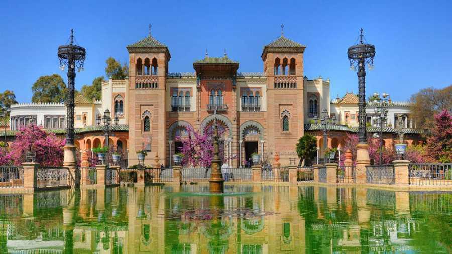 Vista del parque de María Luisa en Sevilla