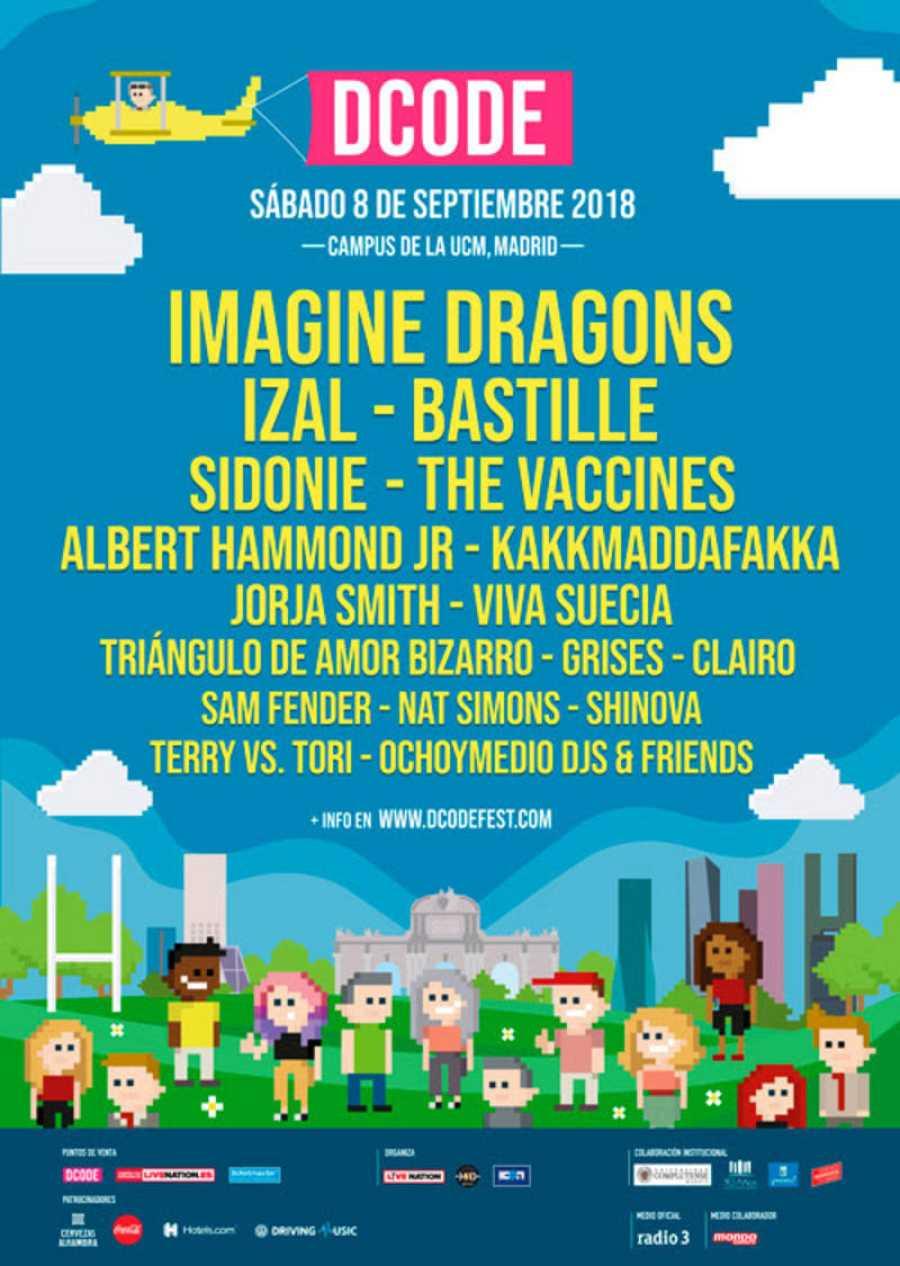 Cartel de DCODE 2018, el 8 de septiembre en Madrid