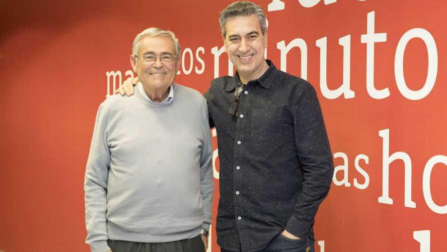 Andrés Miguel García y Arturo Martín, en la Casa de la Radio (Madrid)