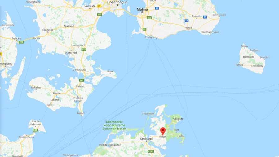 La isla de Rügen se encuentra en el mar Báltico.