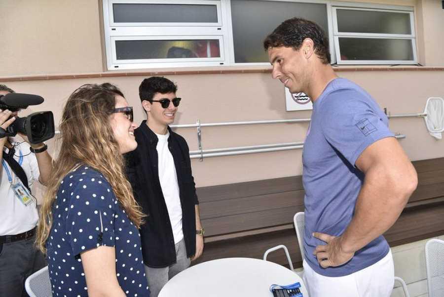 Rafa Nadal con Amaia y Alfred