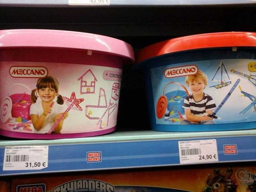 Un jugete en dos versiones, niña y niño, con dos precios claramente diferentes
