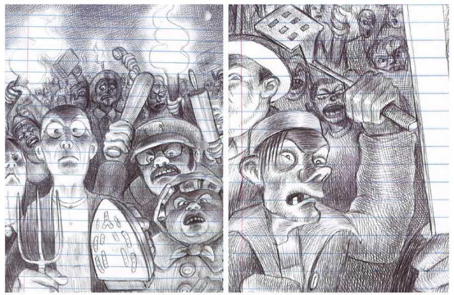 Páginas de 'Lo que más me gusta son los monstruos'