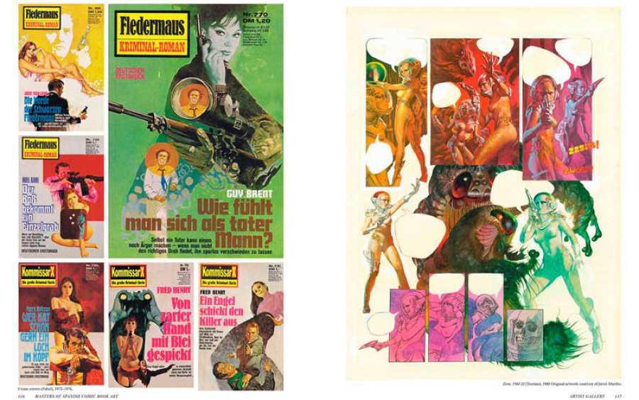 Páginas del libro 'Maestros españoles del arte del cómic'