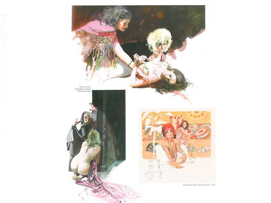 Página del libro 'Maestros españoles del arte del cómic'