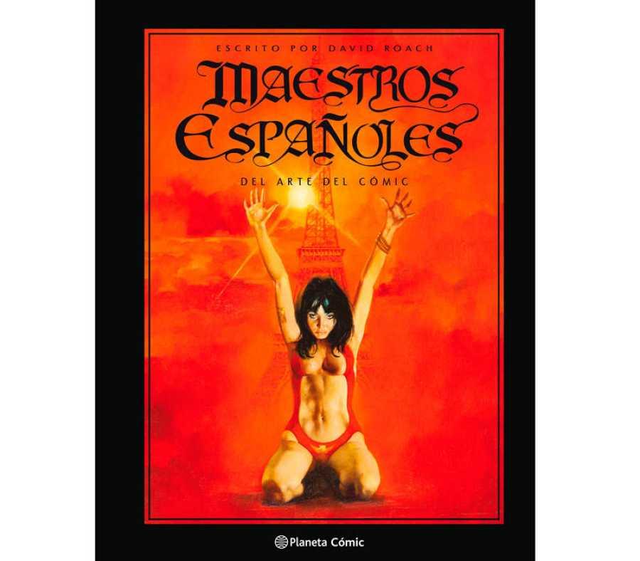 Portada del libro 'Maestros españoles del arte del cómic'