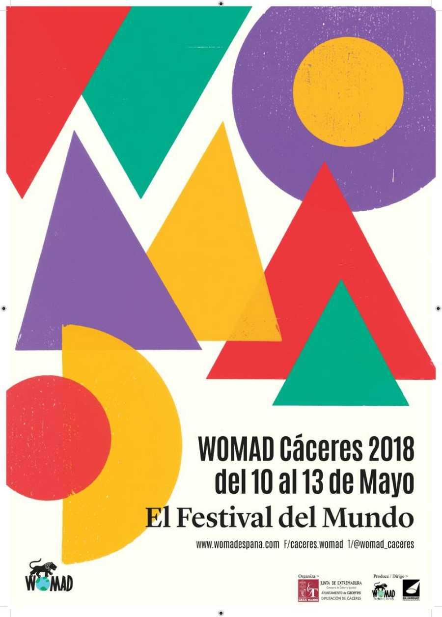 Cartel de WOMAD Cáceres 2018