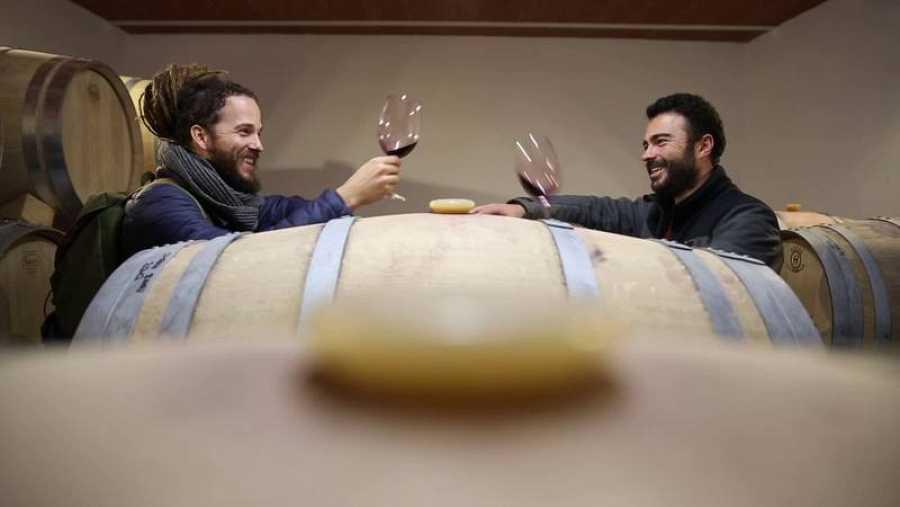 Jorge Sierra con Manu Carrizosa el creador de BadMan Wines