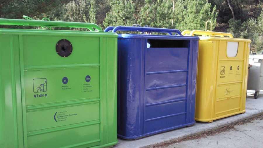 Contenedores para separar los distintos residuos