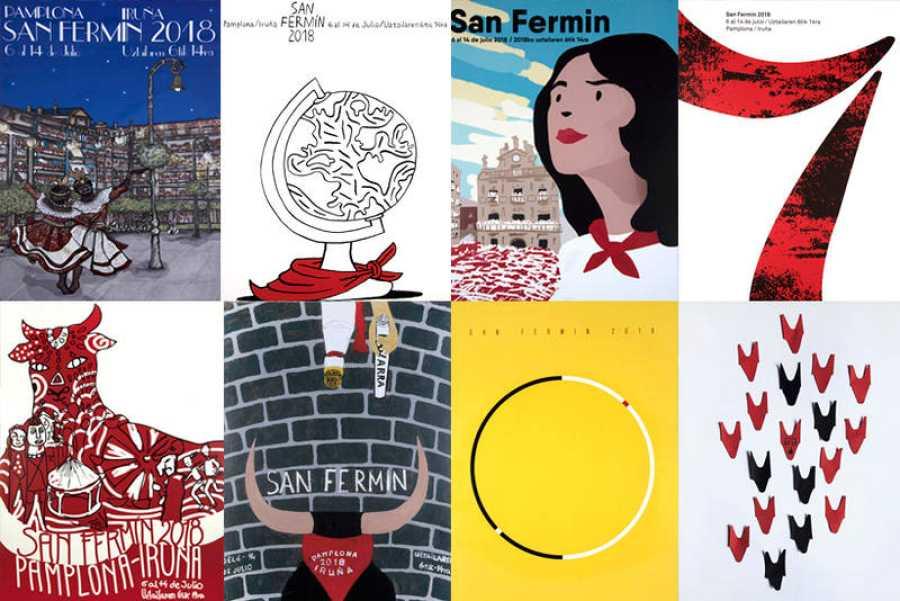 Los ocho carteles finalistas de los Sanfermines 2018