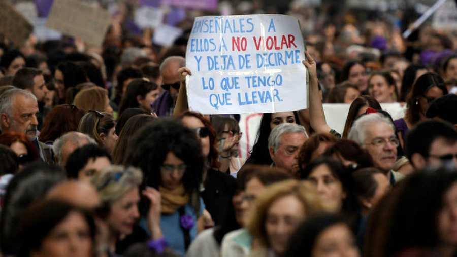 Manifestación contra la sentencia de