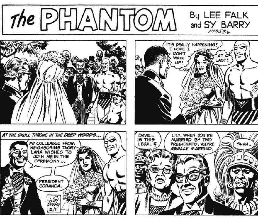 Viñetas de la boda del Hombre Enmascarado (1977)