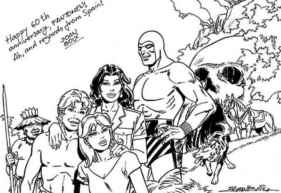 Dibujo de Joan Boix por el 60 aniversario de The Phantom
