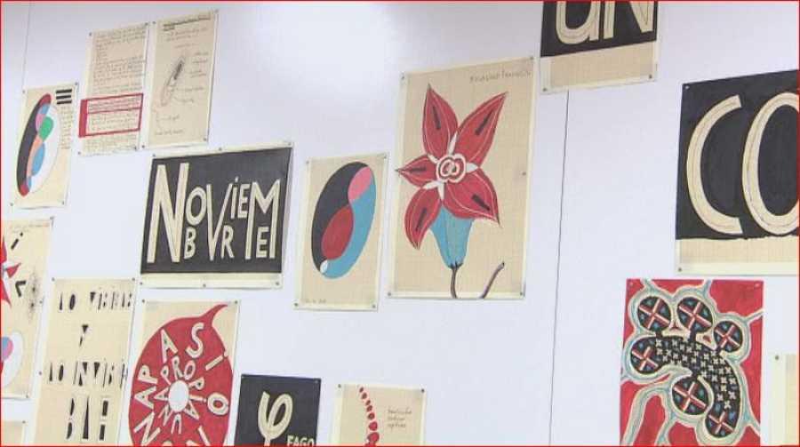 Alguna de las obras expuestas en el CNIO