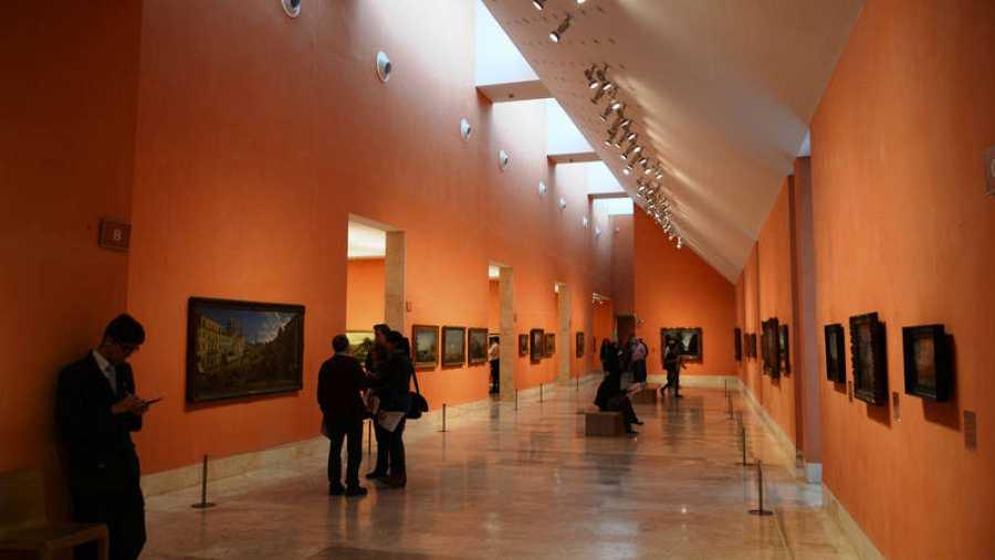 Interior del Museo Thyssen, en la capital