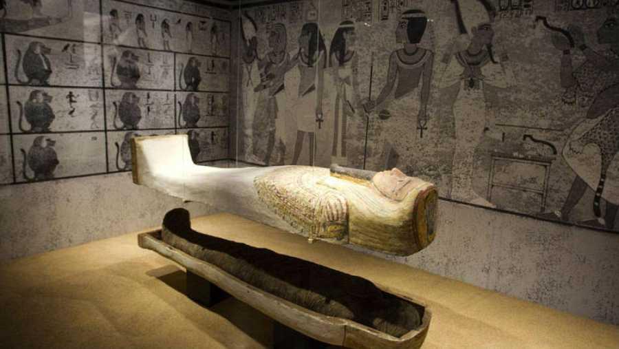 Sala del Museo Egipcio de Barcelona