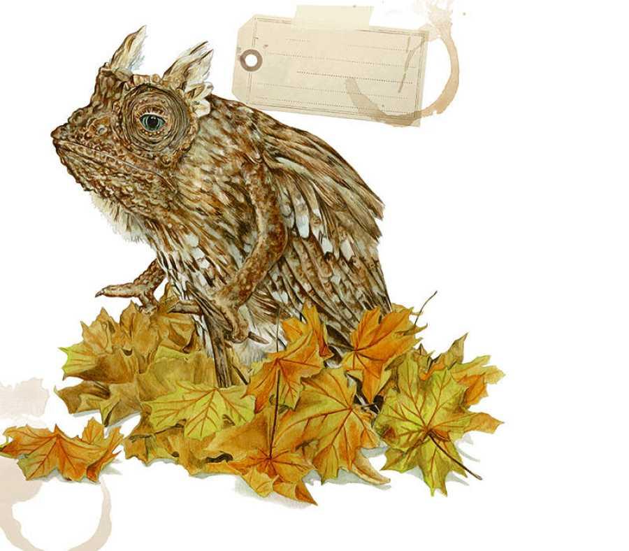Autumnus, una bestia que lleva el otoño en su interiror y por donde pasa hace caer las hojas