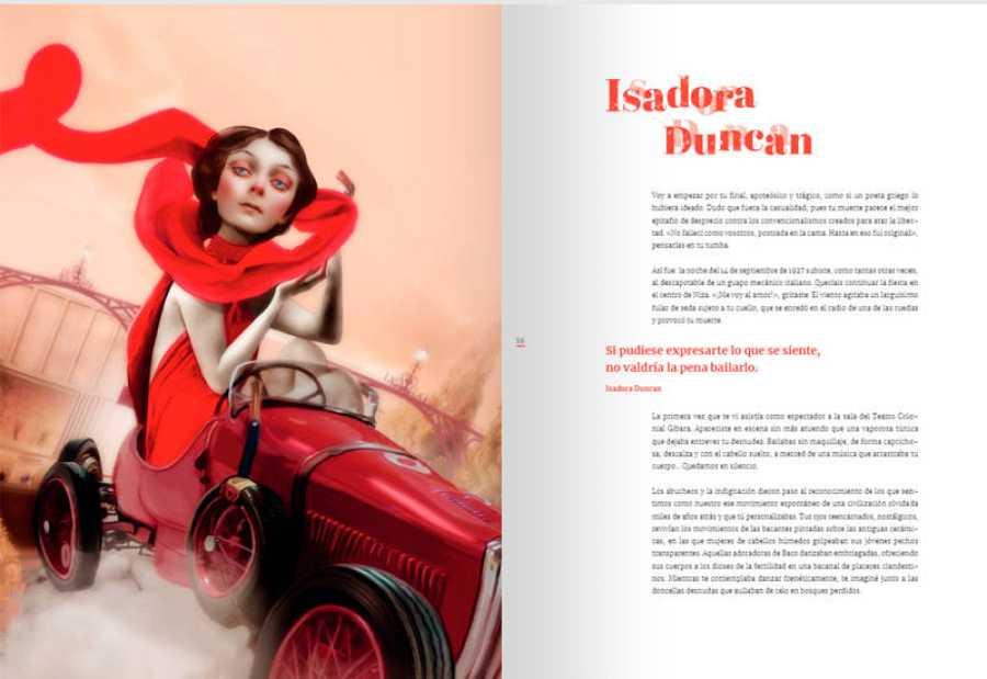 Páginas de 'Genios', dedicadas a Isadora Duncan