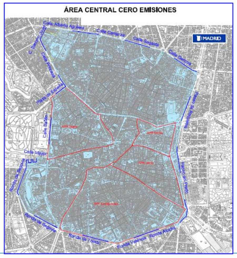 Restricciones Tráfico Madrid Mapa.El Area Madrid Central Quedara Cerrada Al Trafico Para Los